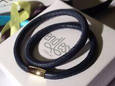Endless JEWELRY Pulsera Azul doble hebra Amarillo Broche 38cm PVP £ 55