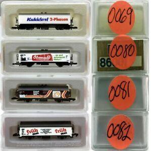 MARKLIN Z SCALE M/M 0069-0080-0081-0082  4 COLLECTOR Refrigerator Cars Boxes C8