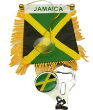 2pc Jamaica flag, Jamaican flag mini banner w/Bottle Opener Nail Cutter Keychain