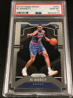 RJ BARRETT 2019 PANINI PRIZM #250 ROOKIE RC PSA 10 NEW YORK KNICKS NBA (B)