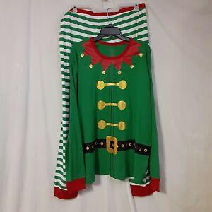 TARGET Christmas Pajamas Elf Wondershop Mens Size XL Green Stripes