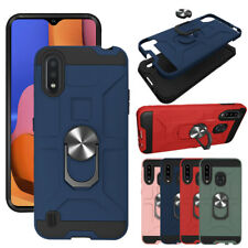 For Samsung Galaxy A01 Case Shockproof Phone Cover Magnetic Ring Holder Stand