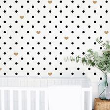 Heart Circle Wall Stickers Nursery Room Sticker dots kids bedroom decal art