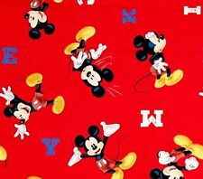 MICKEY MOUSE - Iconic Mickey on Red - Cotton - Quilting Fabric - per FQ