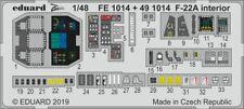 Eduard 1/48 Lockheed-Martin F-22A Zoom Set # FE1014