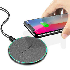 15W 10W Fast Charger Qi Wireless Charging Mat Pad For i Phone 11 8 Samsung S20+