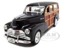 1948 CHEVROLET WOODY WAGON FLEETMASTER BROWN 1/24 DIECAST MODEL CAR WELLY 22083