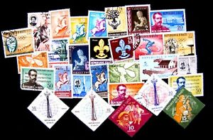 ASSORTMENT OF 25+ USED, MNH, MHM, CTO MAY BE DUPLICATES (SEE DESCRIPTION)