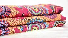 10 Yards Cotton Voile Polka Dot Print Fabric Natural Dyes Sanganer Indian Throw