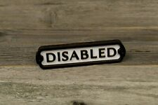 Disabled Door Sign, Toilet, Bathroom Plaque Vintage Style, Railway, Retro,