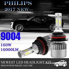2x 160W 9004 LED Light Headlight Kit 16000LM High/Low Beam White 6000K Bulbs Kit