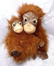 "Mint Big 16"" Animal Planet Mother & Baby Realistic Orangutan Ape Plush Stuffed"