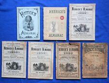 7 Herrick'S Almanac (1876-1918 period) - describes Herrick's and other medicines