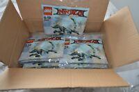 BOX 30 SEALED LEGO NINJAGO MOVIE GREEN NINJA DRAGON POLY PARTY BAGS SET 30428