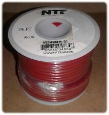 Wire, Speaker, Bonded, Parallel, 14/2, Stranded, Red/Black, Spool 25', RoHs