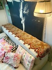Ancienne Tapisserie De Laine 19e Antique Victorian Wool Tapestry Tissu Textile