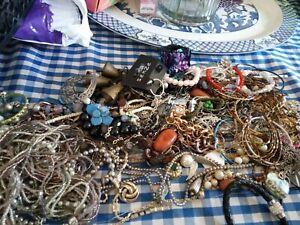 Job Lot Broken Vintage & Modern Costume Jewellery Mixed