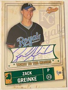 Zack Greinke 2005 Fleer Authentix Club Box #106 /50 Card Auto AU Card Royals