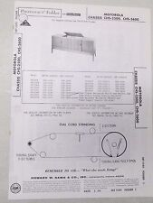 Vtg Sams Photofact Folder Radio Parts Manual Motorola Chassis CHS-2500 CHS-2600
