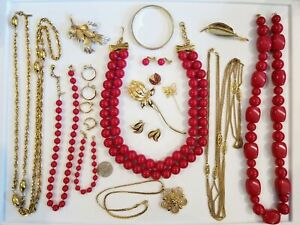 Vintage Mod Monet Gold Tone Jewelry LOT ALL SIGNED MONET