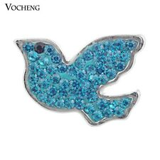 Vocheng Bird Snap Charms 3 Colors 18mm Metal Button Jewelry Vn-875
