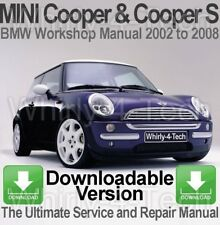 BMW MINI Cooper & Cooper S 2002-2008 Workshop, Service & Repair Manual DOWNLOAD