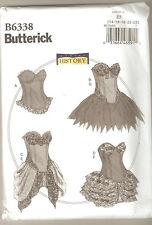 Butterick Sewing Pattern B6338 History Curved Hem Corsets & Skirts Costume 14-22
