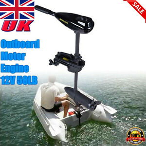 12V Electric Outboard Engine Trolling Motor 58Ib Thrust for Boat Dinghy UK Stock