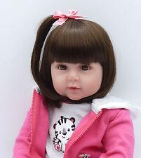 """22"""" Vinyl Reborn Baby Girl Toddler Dolls Lifelike newborn bebe toys gift"""