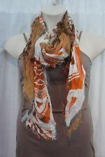 18 Collection Eighteen Scarf Sz OS One Size Harvest Pumpkin Orange Multi Color