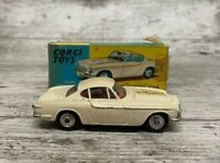 Corgi 258 The Saint Car Volvo P1800 Vintage 1965 Boxed In Good Condition