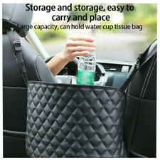 Car Seat Pu Storage Bag Organizer Net Hanging Pocket Safety Driving Accessories (Fits: Seat)