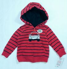 BABY BOYS JUST ONE YOU MADE BY CARTERS ZIP-UP CAR SWEATSHIRT 6 MONTHS (1417)