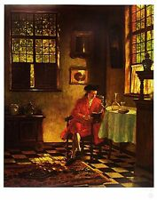 Hugo Krings Besinnliche Stunde Poster Kunstdruck Bild 60x49cm - Portofrei