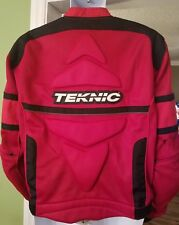 Teknic Motorcycle Jacket 46 Dirt Bike Padded red black white