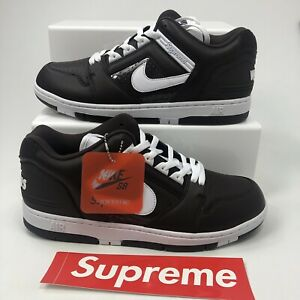 SUPREME X SB AF2 LOW TRAINERS AIR FORCE 2 LOW 2017 RELEASE SHOES UK 10