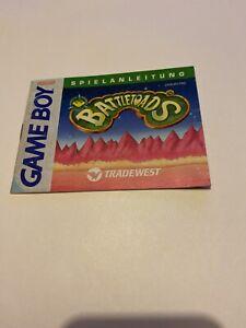 Manual Booklet Fashion D' Use Nintendo Game Boy GB Battletoads Version Frg