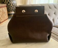 Hand Made Cosmetics/ toiletries Bag, Full Grain Leather