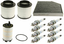 Audi A8 Quattro 4.2L V8 2011-2012 OEM Tune Up KIT Air Oil Cabin Filters + Plugs