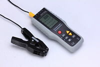 4-Channel K-Type Thermometer Thermocouple Sensor -200~1372°C + 2 x Pipe Clamps