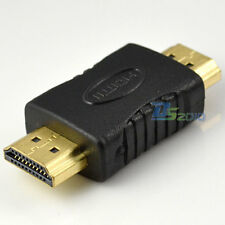 HDMI 1.4v Male To plug Gender Changer extension Converter Adapter HDTV DVD 1080p