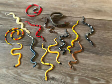lot of 14 colorful plastic snakes kid's toy party favor