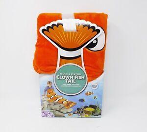 Jay Franco Plush & Playful Clown Fish Tail Nemo - New