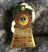 Lions Club Lapel Pin District 14 Pennsylvania-Taipei 1987