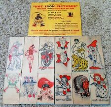 RARE 1940's Character Iron-On Transfer Sheet Set with Original Instruction