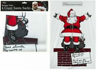 4 x Giant Santa Sacks Stocking Jumbo Christmas Large Xmas Elf Gift Present Bag