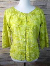 Columbia Batik cotton shirt green S
