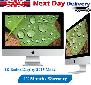 "Apple iMac 21.5"" 4K Retina 2015 Desktop Core i5 5th-Gen 3.1GHz 8GB RAM 1TB HDD"