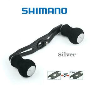 Shimano reel carbon fiber power handle EVA knob 106mm SILVER
