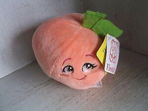 "Fiesta Smiling PEACH Plush Toy Stuffed 5"" w/ Tags"